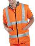 Orange Hi vis reversable Bodywarmer